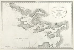 Bruny's Map of S.E. Tasmania.