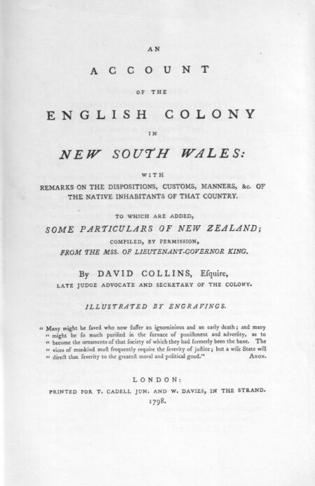 An account of the english colony of nsw vol 1 to the right honourable thomas lord viscount sydney one of his majestys most honourable privy council chief justice in eyre south of trent fandeluxe Images
