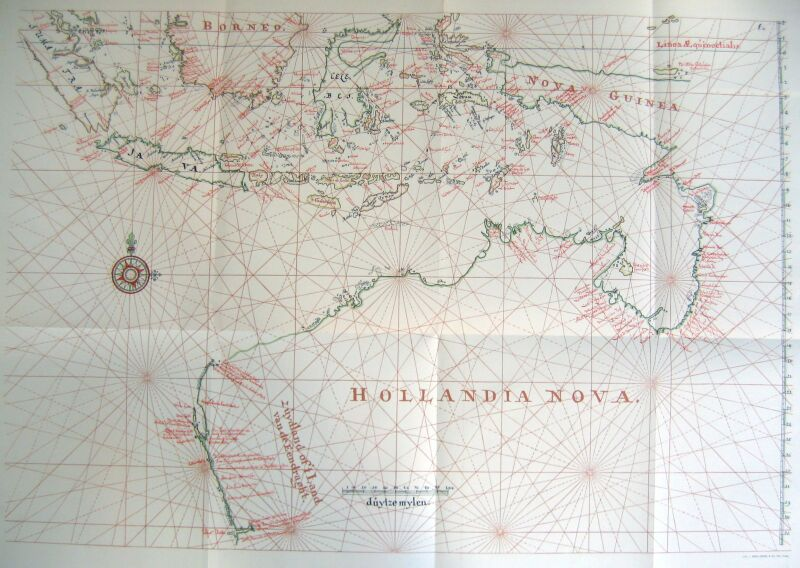 Map 8f Australia.The Part Borne By The Dutch In The Discovery Of Australia