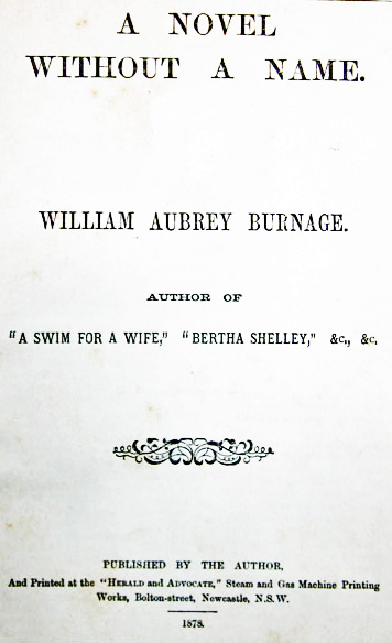A Novel Without a Name, by William Aubrey Burnage