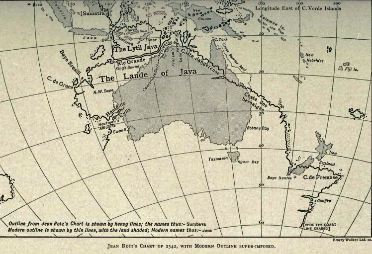 Map Of Australia 1770.Exploration Maps And Charts Discovery Of Australia By Sea