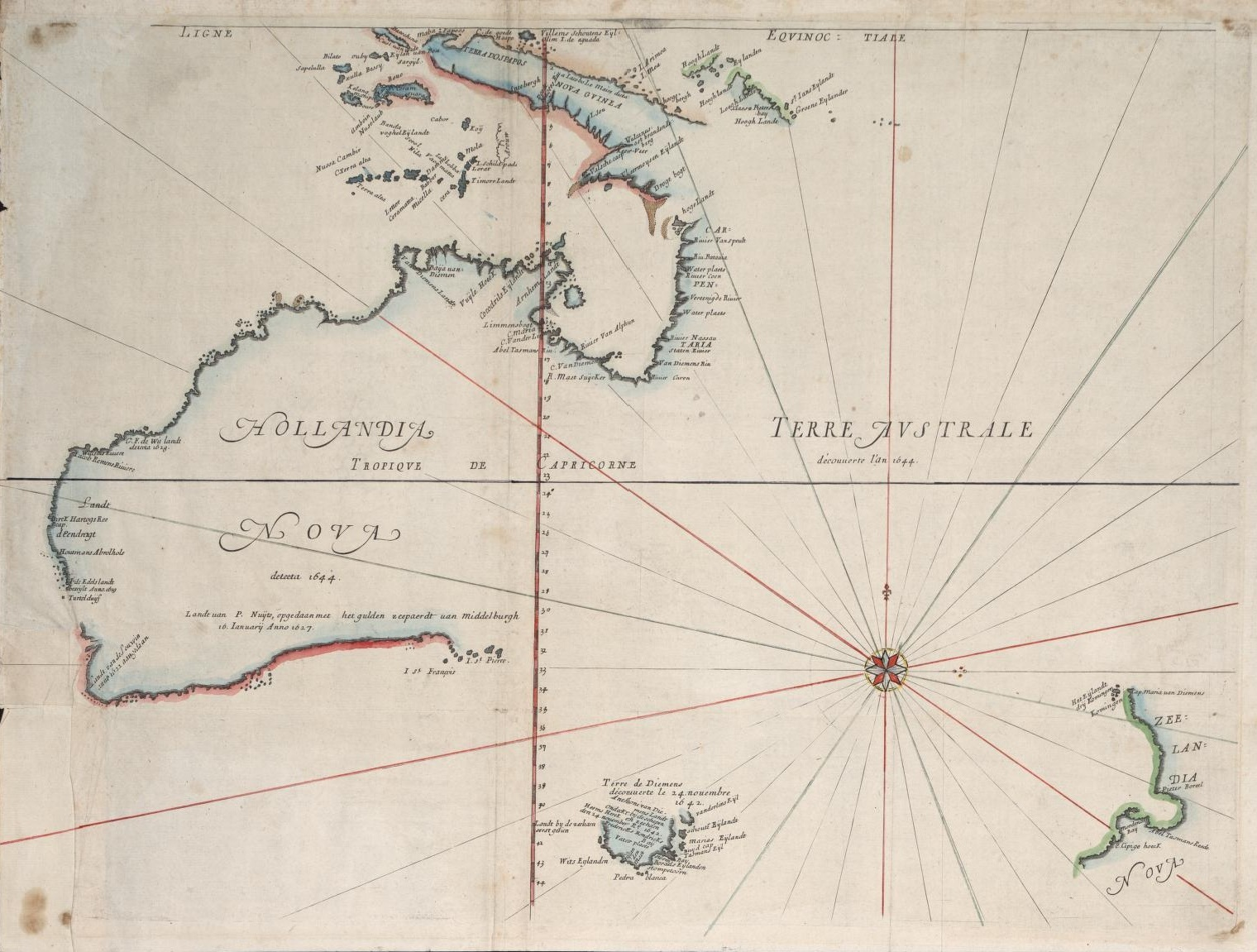 Exploration Maps and Charts -- Discovery of Australia by Sea