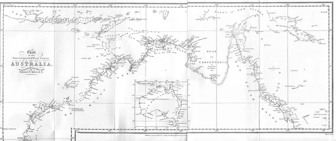 Narrative Of A Survey Volume - Map of us drawn by australian