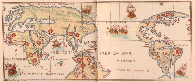 First Map Of Australia.The First Discovery Of Australia And New Guinea