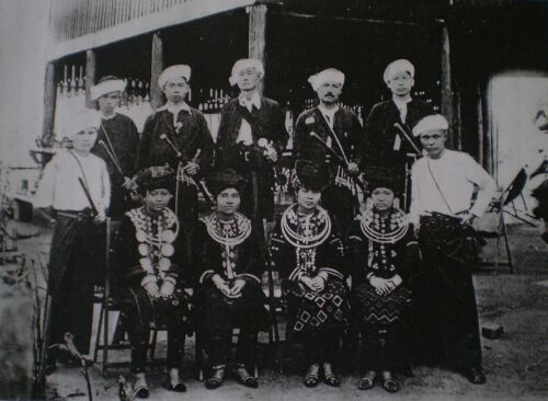 CHOIR AND BAND OF SGAW KAREN HIGH SCHOOL OF BASSEIN, DRESSED IN KAREN COSTUME