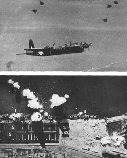 WW2 Photo American A-20 Havoc aircraft aflame after being hit by German 594 DE