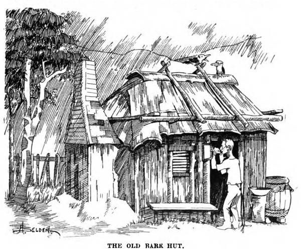 First Settler Cabin Coloring Page