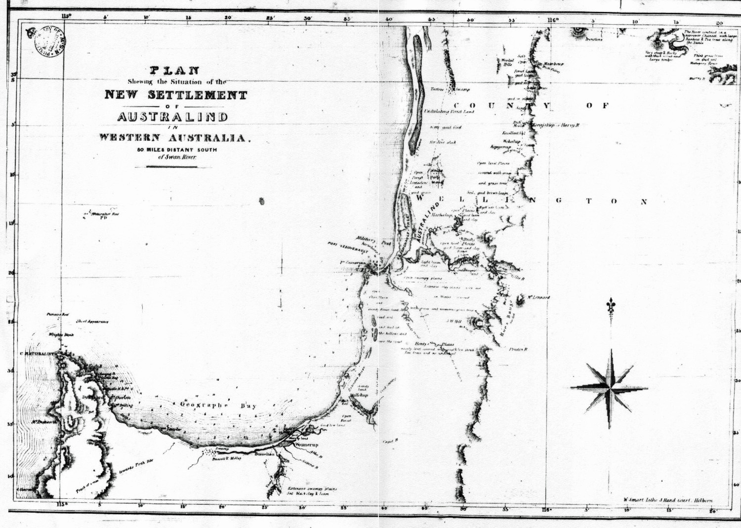 Western Australia Comprising A Description Of The Vicinity Of - Map of us drawn by australian
