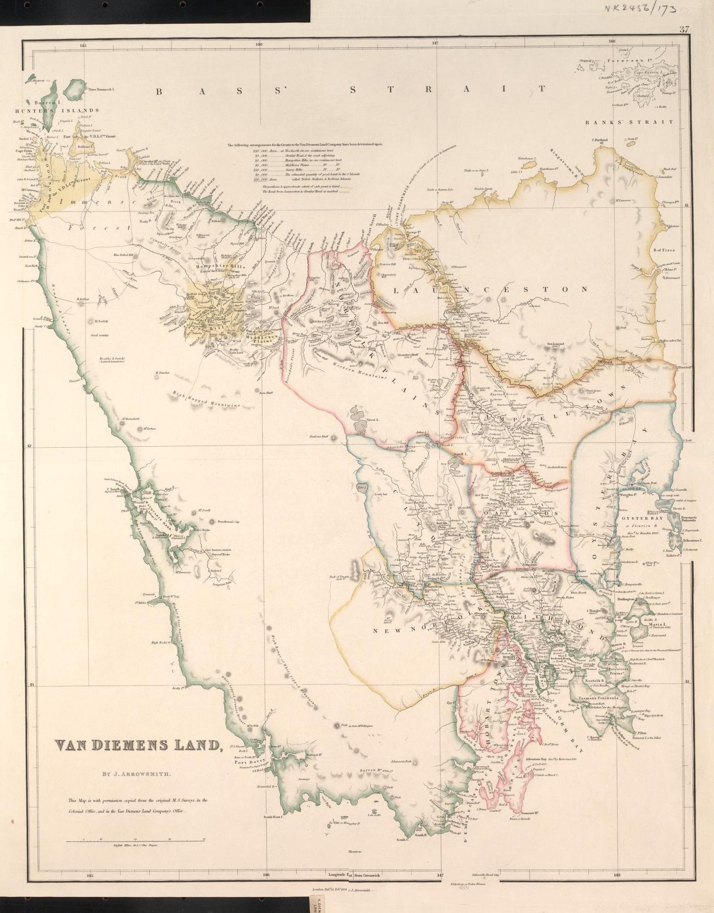 Sketch of the History of Van Diemens Land