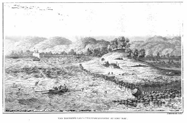 Van Diemen's Land Company's establishment at Emu Bay, 1832 (Tasmaniana Library, SLT)