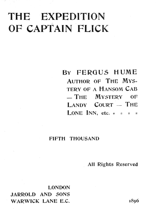 The Expedition Of Captain Flick