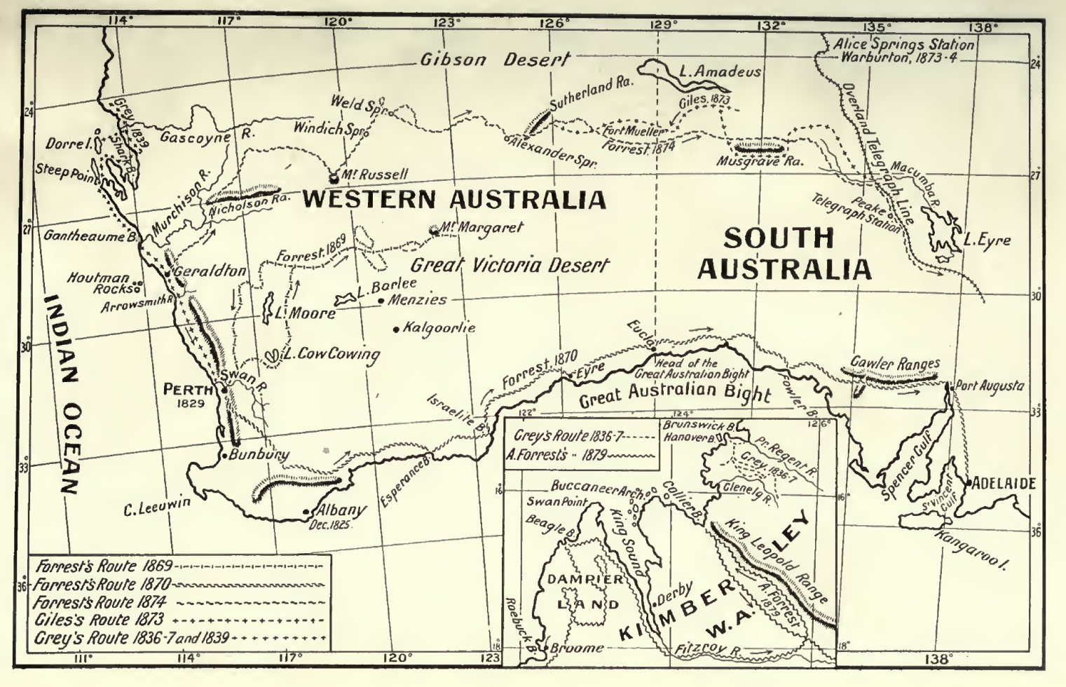 Map Of Western Australia Printable.Exploration Maps And Charts Discovery Of Australia By Land